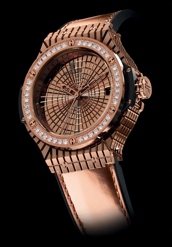 Hublot Big Bang Caviar Oro Rojo Réplica De Diamantes Reloj