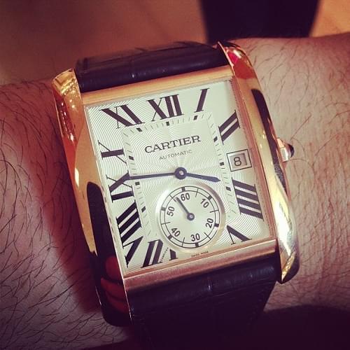 Replica Reloj Cartier Tank MC Esfera Blanca