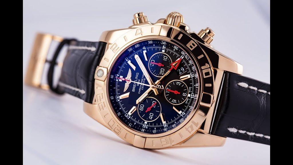 Breitling-Chronomat-Reloj-De-Imitacion-De-Oro-Rosa