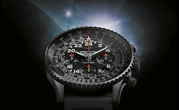 Breitling Navitimer Cosmonaute Reloj De Replica De Acero Negro