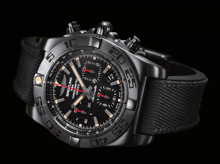breitling chronomat 44 blacksteel replica