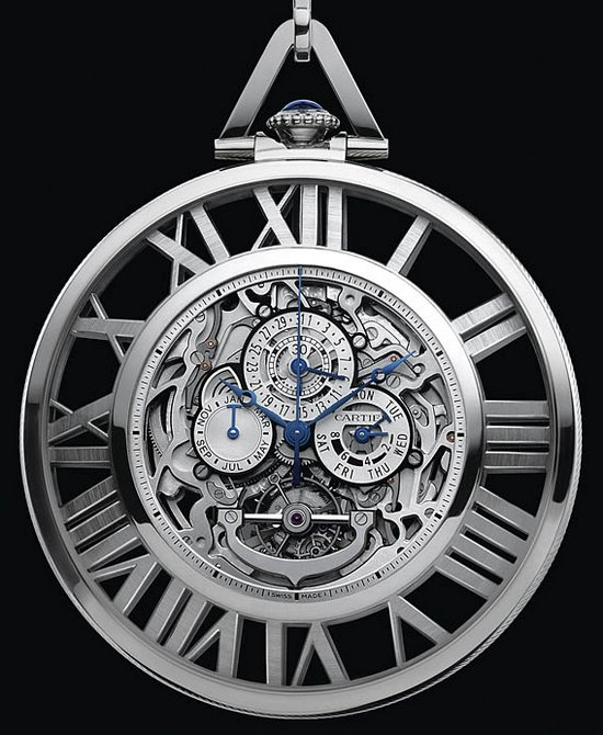 cartier skeleton grand complication pocket replica